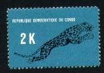 Stamps Africa - Democratic Republic of the Congo -  leopardo