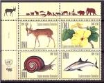 Stamps : America : ONU :  Especies en peligro