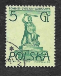 Sellos de Europa - Polonia -  668 - Monumento de La Sirena