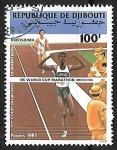 Sellos del Mundo : Africa : Djibouti : 1er coupe du monde - Maraton