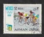 sello : Asia : Emiratos_Árabes_Unidos : Ajman - 28 - Olimpiadas de Mexico