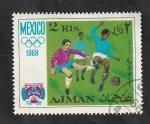 Sellos del Mundo : Asia : Emiratos_Árabes_Unidos :  Ajman - 28 - Olimpiadas de Mexico