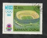 Sellos de Asia - Emiratos Árabes Unidos -  Ajman - 28 - Olimpiadas de Mexico