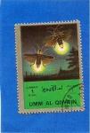Sellos de Asia - Emiratos Árabes Unidos -  Insectos