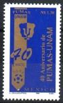 de America - México -  40th  ANIVERSARIO  DE  LOS  PUMAS  DE  LA  U.N.A.M.