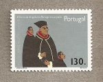 Stamps Portugal -  450 Años llegada portugueses al Japón