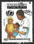 Sellos del Mundo : Africa : Djibouti : Unicef - vacunacion universal