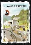 Sellos del Mundo : Africa : Santo_Tomé_y_Principe : 125 aniversario de la cruz roja