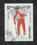 Stamps : Asia : Cambodia :  Kampuchea - 453 - Olimpiadas de invierno en Sarajevo