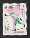 Stamps : Asia : Cambodia :  Kampuchea - 454 - Olimpiadas de invierno en Sarajevo