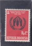 Sellos del Mundo : Asia : Indonesia : AÑO DEL REFUGIADO