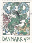 Stamps : Europe : Denmark :  ILUSTRACIÓN PAJARO