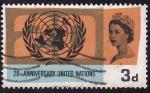 Stamps United Kingdom -  20 Aniversario de las naciones unidas