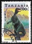 Sellos del Mundo : Africa : Tanzania : Animales prehistoricos - Iguanodon