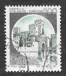 Stamps Italy -  1427 - El Castillo de Scaligero