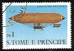Sellos de Africa - Santo Tomé y Principe -  Dirigibles - Paul Hanlein, 1872