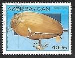Sellos de Europa - Austria -  zepelin - U.S. navy dirigible airship, 1917