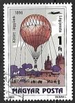 Sellos de Europa - Hungría -  Globos Aerostáticos - Kite Balloon, 1896