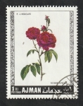 Stamps United Arab Emirates -  Ajman - 106 - Rosas
