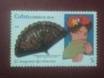 Stamps : America : Cuba :  El lenguaje del abanico