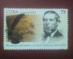 Stamps Cuba -  Bicentenario del natalicio de Cirilo Villaverde 1812 - 2012