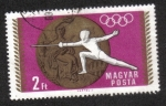 Sellos del Mundo : Europa : Hungría : Juegos Olímpicos de Verano 1968, Ciudad de México (2)