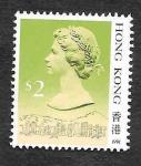 Sellos de Asia - Hong Kong -  500d - Isabel II del Reino Unido