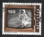 Stamps Europe - Switzerland -  Hombre en la Luna