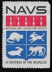 Sellos del Mundo : America : Estados_Unidos : Sociedad Nacional Antivivisección