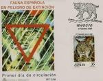 Stamps Europe - Spain -   Animales en peligro de extinción - Lince ibérico   SPD