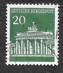 Sellos de Europa - Alemania -  939 - Puerta de Brandeburgo