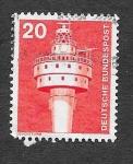 Sellos de Europa - Alemania -  1172 - Faro de Weser