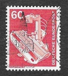 Stamps Germany -  1176 - Rayos X