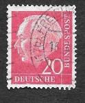 sellos de Europa - Alemania -  710 - Theodor Heuss