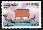 Stamps : Asia : Afghanistan :  Barcos - Grecian Bireme