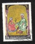 Stamps Asia - Yemen -  Pintura asiática, Dioscórides y un estudiante.