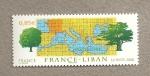 Sellos de Europa - Francia -  Emisión conjunta Francia Líbano