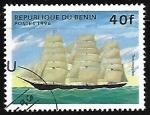 Stamps : Africa : Benin :  Barcos - Thermopyles