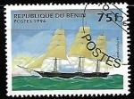 de Africa - Benin -  barcos - Nightingale (Full-rigged ship)