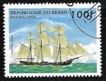 de Africa - Benin -  barcos - Opium clipper