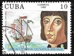 Stamps America - Cuba -  Exposicion mundial de filatelia Genova 92