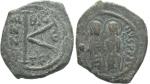 monedas de Europa - Grecia -   Medio follis, Justino II (565-578)