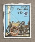 Sellos de Asia - Laos -  Máquinas a vapor