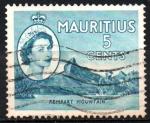 sellos de Africa - Mauricio -  MONTAÑA  LA  MURALLA