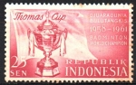 Stamps Asia - Indonesia -  CAMPEONATO  MUNDIAL  DE  BADMINTON  THOMAS  COPA