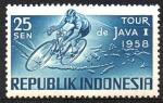 Stamps Asia - Indonesia -  TORNEO  CICLÍSTICO  DE  JAVA