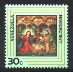 Stamps America - Venezuela -  NAVIDAD,  ESCULTURA  COLONIAL.