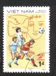 Sellos del Mundo : Asia : Vietnam : campeonato mundial de fútbol taza de España 82
