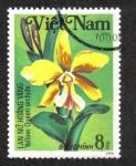 Sellos del Mundo : Asia : Vietnam : Orquídeas, reina amarilla de Cattleya