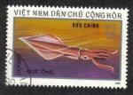 Sellos del Mundo : Asia : Vietnam : vida marina, Kalmar (Loligo sp.)